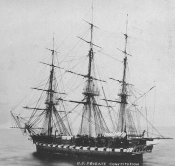 What Writing techniques are used in the poem Old Ironsides?