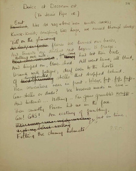 a review of the poem dulce et decorum est Can you name the words in wilfred owen's wwi poem 'dulce et decorum est.