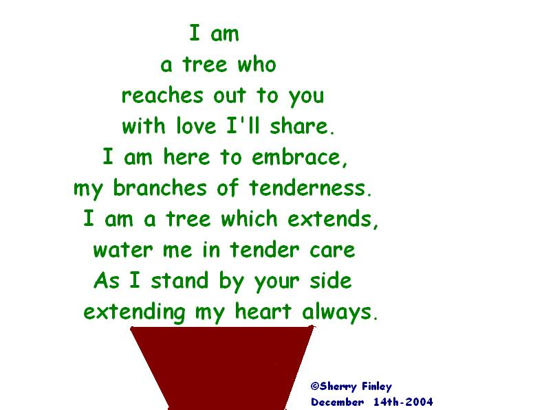 a tree shape poem a poem by sherry finley all poetry