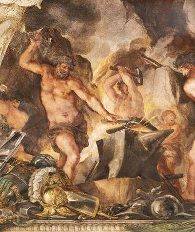 Image result for hephaestus at the forge cyclops