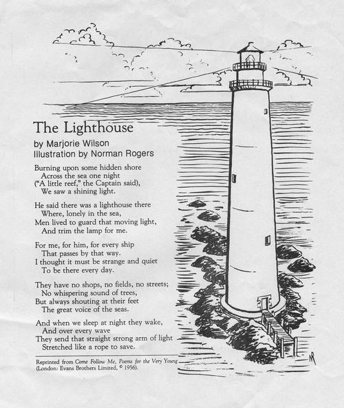 From The Great Poem: The Lighthouse By Marjorie Wilson