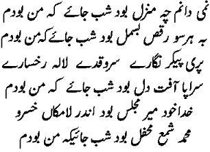 Farsi Kalam.Nami Danam By Amir Khusro Famous Poems Famous Poets All Poetry